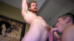 Red Headed Giant Gets Sucked Off