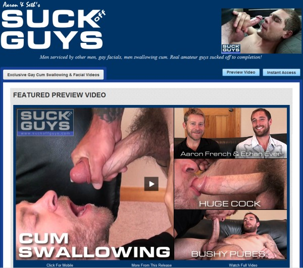 SUCKoffGUYS.com - Gay Facial and Cum Swallowing Videos